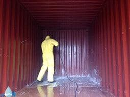 reiniging container